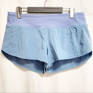Lululemon Cascade Blue Speed Up Shorts 2.5""